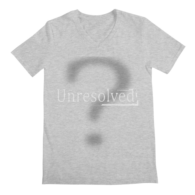 Question Mark (White) Men's Regular V-Neck by Unresolved Shop