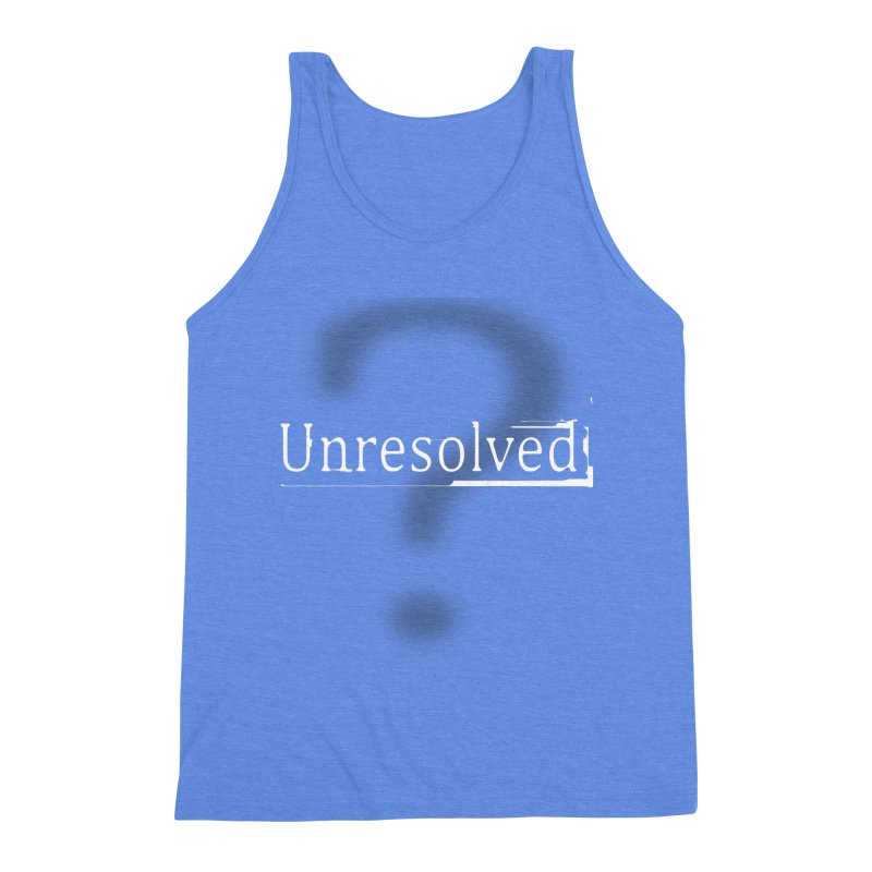 Question Mark (White) Men's Triblend Tank by Unresolved Shop