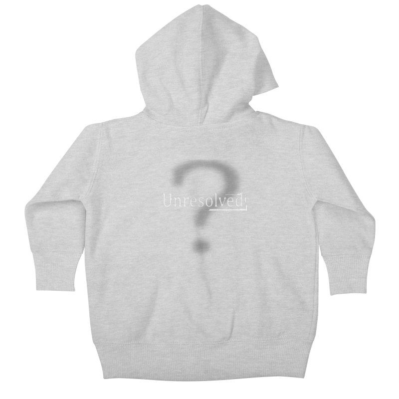 Question Mark (White) Kids Baby Zip-Up Hoody by Unresolved Shop