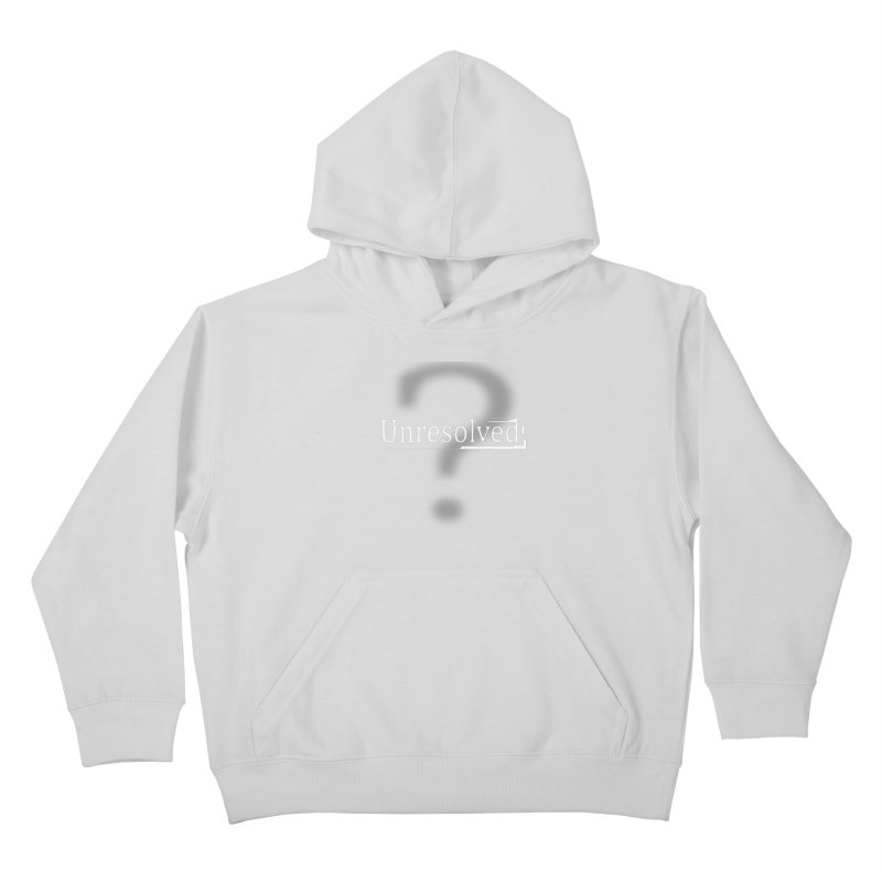 Question Mark (White) Kids Pullover Hoody by Unresolved Shop