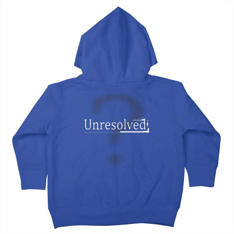 Question Mark (White) Kids Toddler Zip-Up Hoody by Unresolved Shop