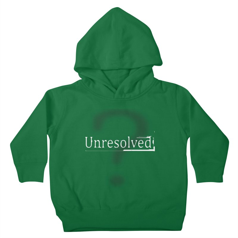 Question Mark (White) Kids Toddler Pullover Hoody by Unresolved Shop