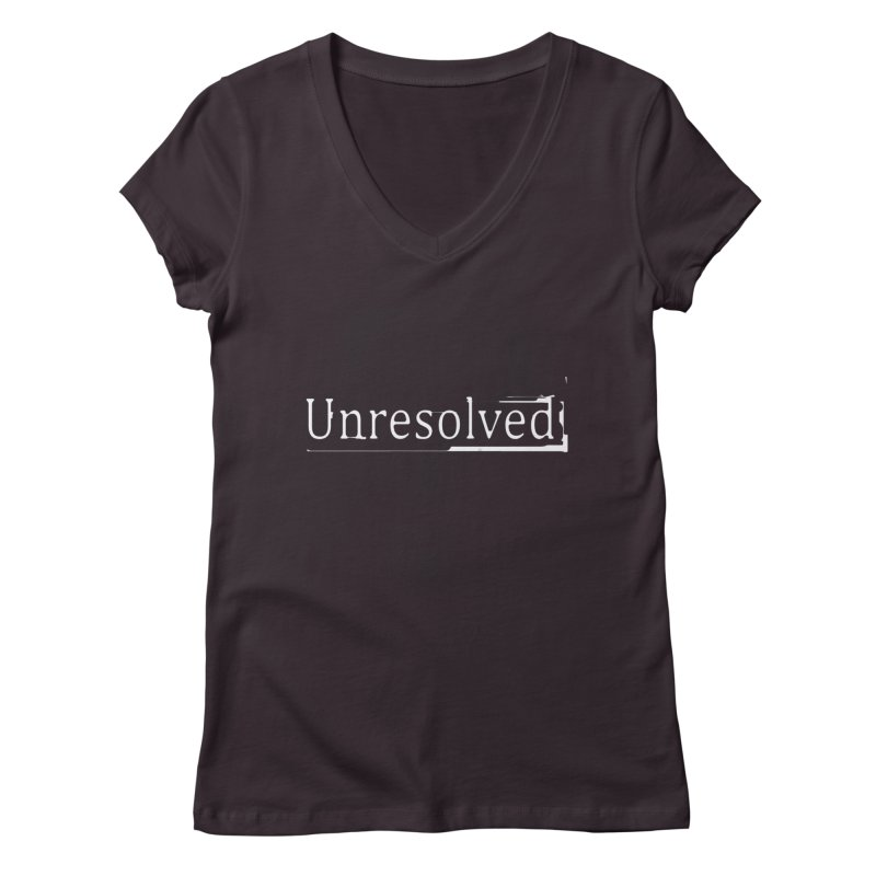 Question Mark (White) Women's V-Neck by Unresolved Shop
