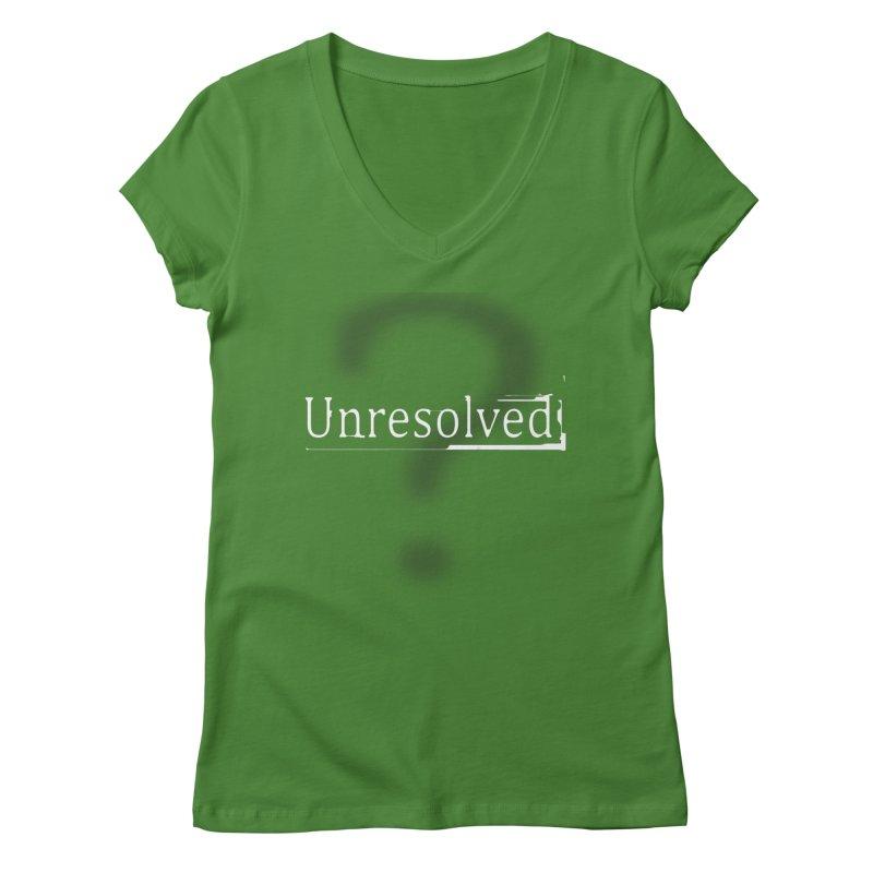 Question Mark (White) Women's Regular V-Neck by Unresolved Shop