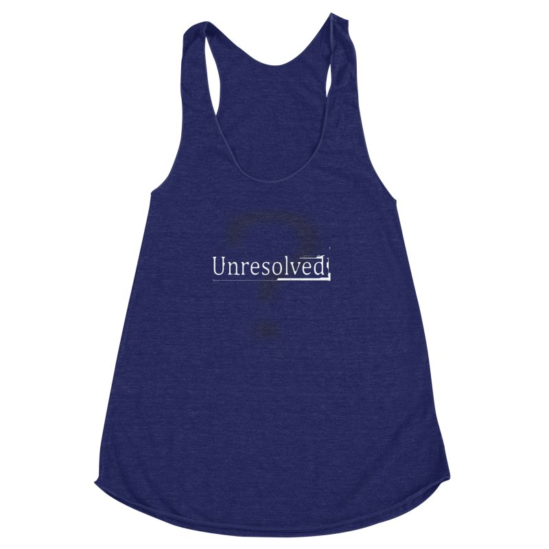 Question Mark (White) Women's Racerback Triblend Tank by Unresolved Shop
