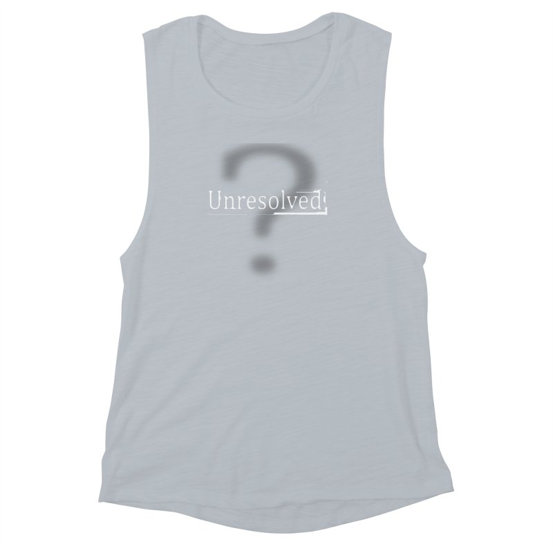 Question Mark (White) Women's Muscle Tank by Unresolved Shop