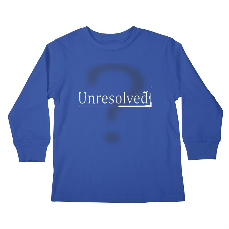 Question Mark (White) Kids Longsleeve T-Shirt by Unresolved Shop