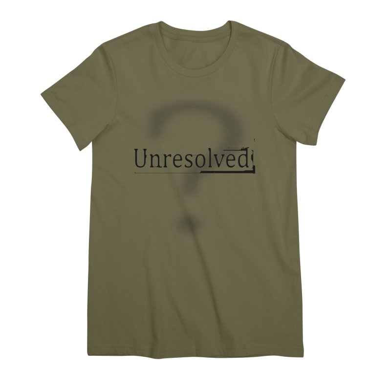 Question Mark (Black) Women's Premium T-Shirt by Unresolved Shop