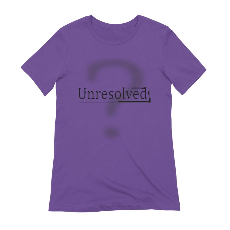 Question Mark (Black) Women's Extra Soft T-Shirt by Unresolved Shop