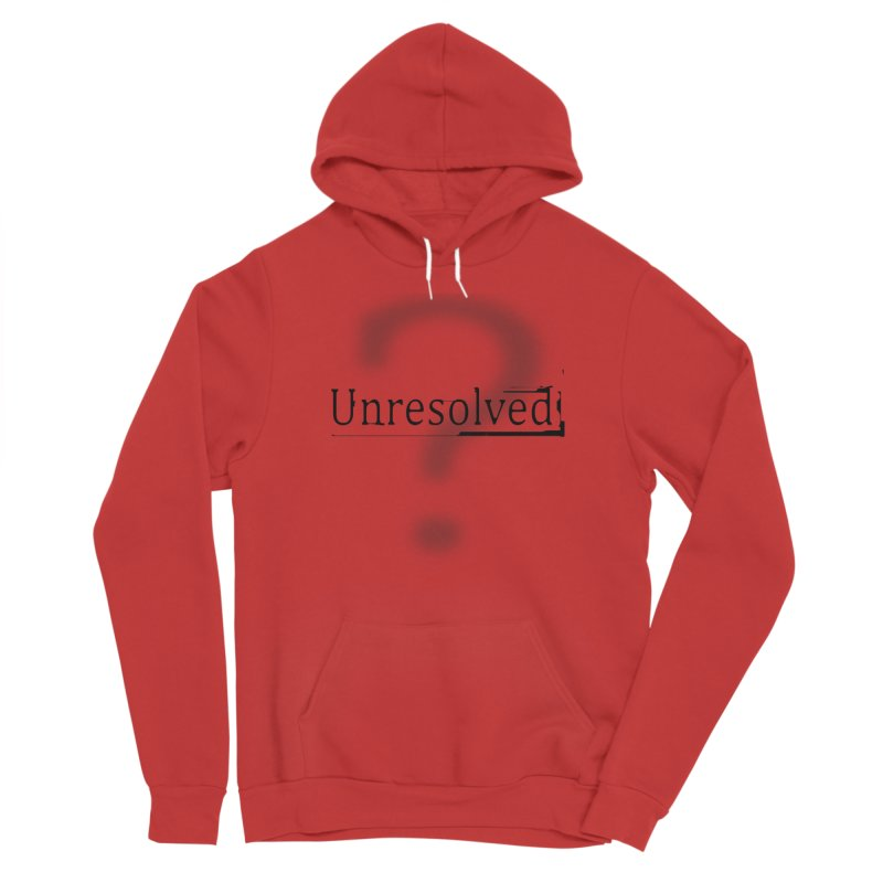 Question Mark (Black) Women's Sponge Fleece Pullover Hoody by Unresolved Shop