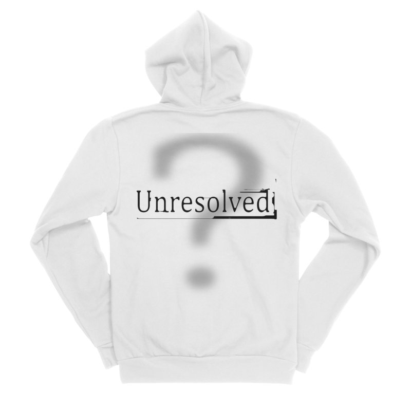 Question Mark (Black) Women's Sponge Fleece Zip-Up Hoody by Unresolved Shop