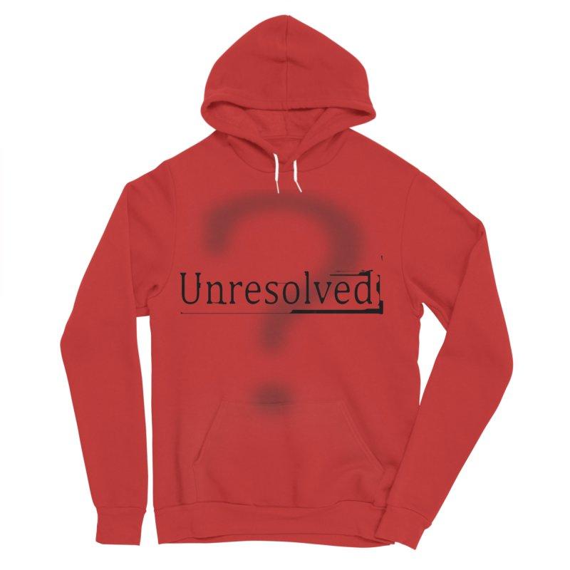 Question Mark (Black) Women's Sponge Fleece Pullover Hoody by Unresolved Shop