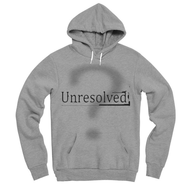 Question Mark (Black) Men's Sponge Fleece Pullover Hoody by Unresolved Shop