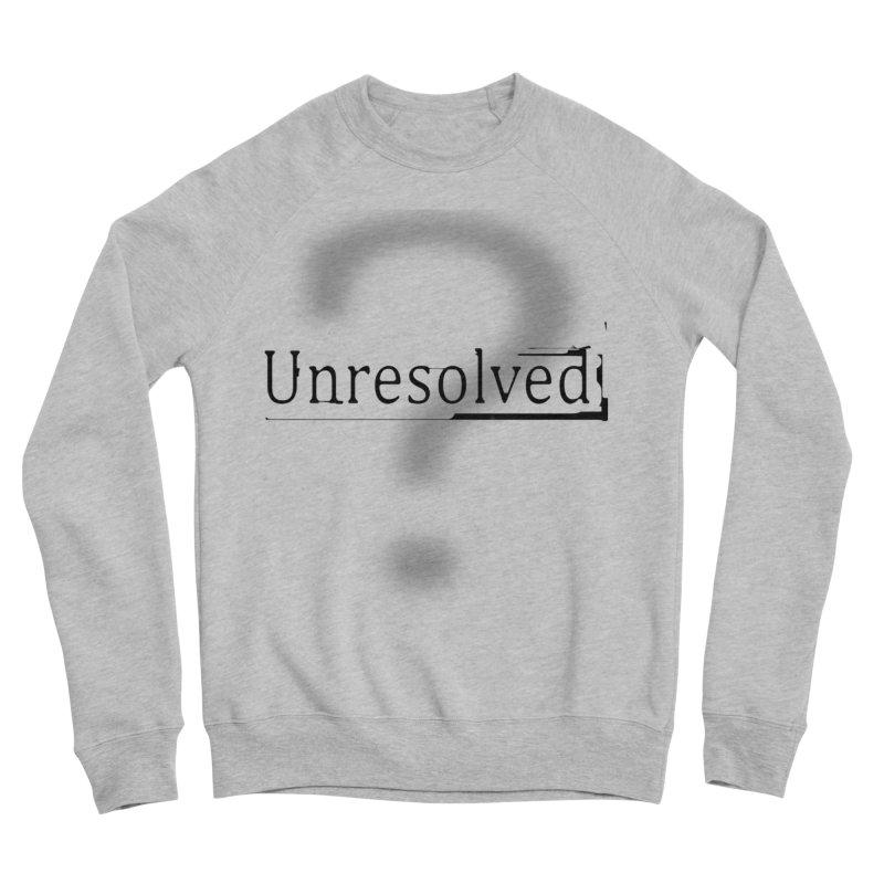 Question Mark (Black) Women's Sponge Fleece Sweatshirt by Unresolved Shop