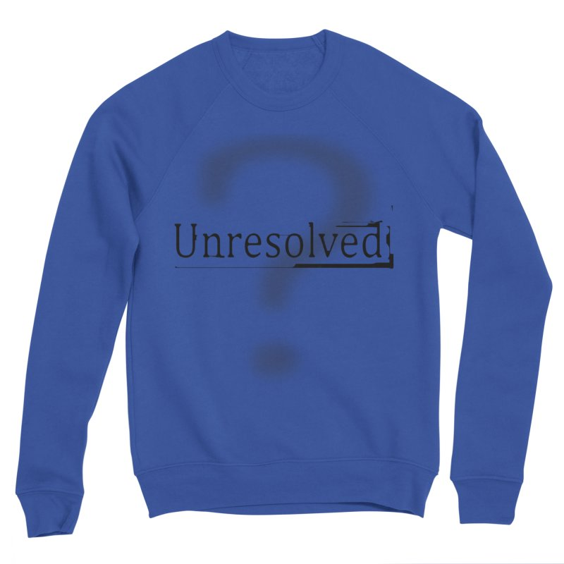 Question Mark (Black) Men's Sponge Fleece Sweatshirt by Unresolved Shop
