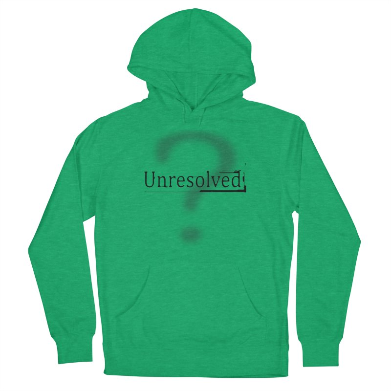 Question Mark (Black) Men's French Terry Pullover Hoody by Unresolved Shop