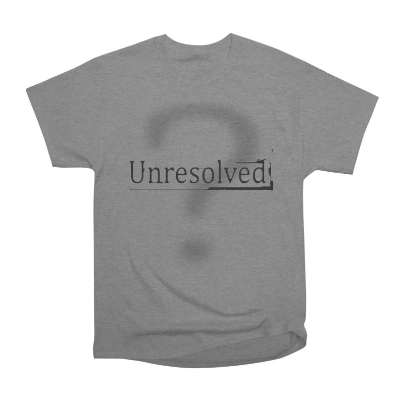 Question Mark (Black) Men's Heavyweight T-Shirt by Unresolved Shop