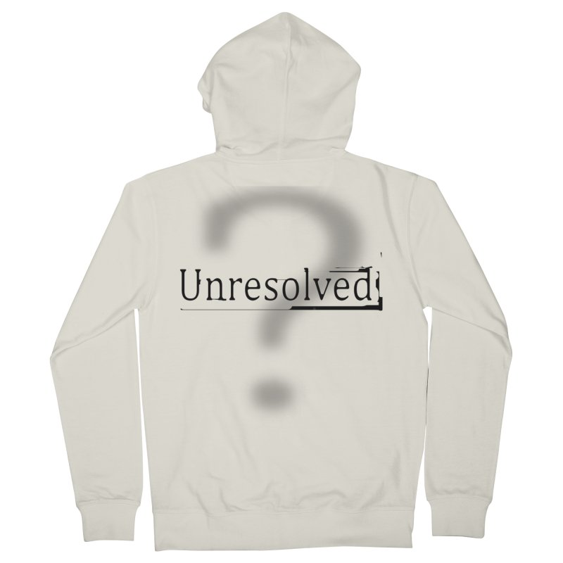 Question Mark (Black) Women's French Terry Zip-Up Hoody by Unresolved Shop