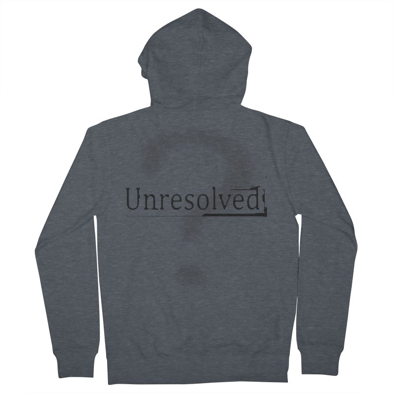 Question Mark (Black) Men's French Terry Zip-Up Hoody by Unresolved Shop