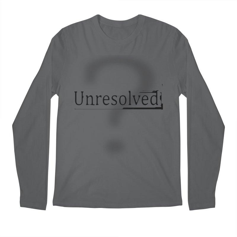 Question Mark (Black) Men's Regular Longsleeve T-Shirt by Unresolved Shop