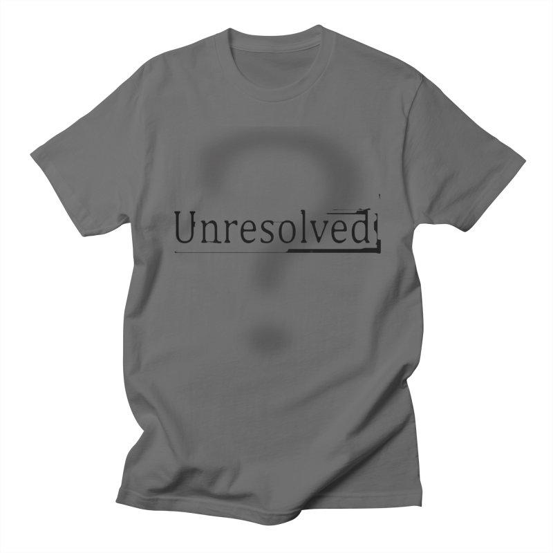 Question Mark (Black) Men's T-Shirt by Unresolved Shop