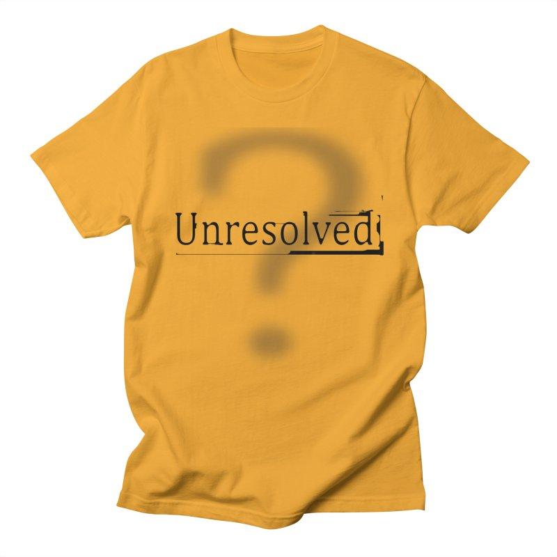 Question Mark (Black) Women's Regular Unisex T-Shirt by Unresolved Shop