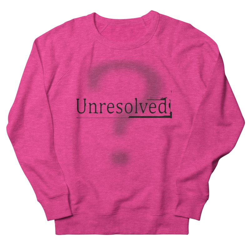 Question Mark (Black) Men's French Terry Sweatshirt by Unresolved Shop