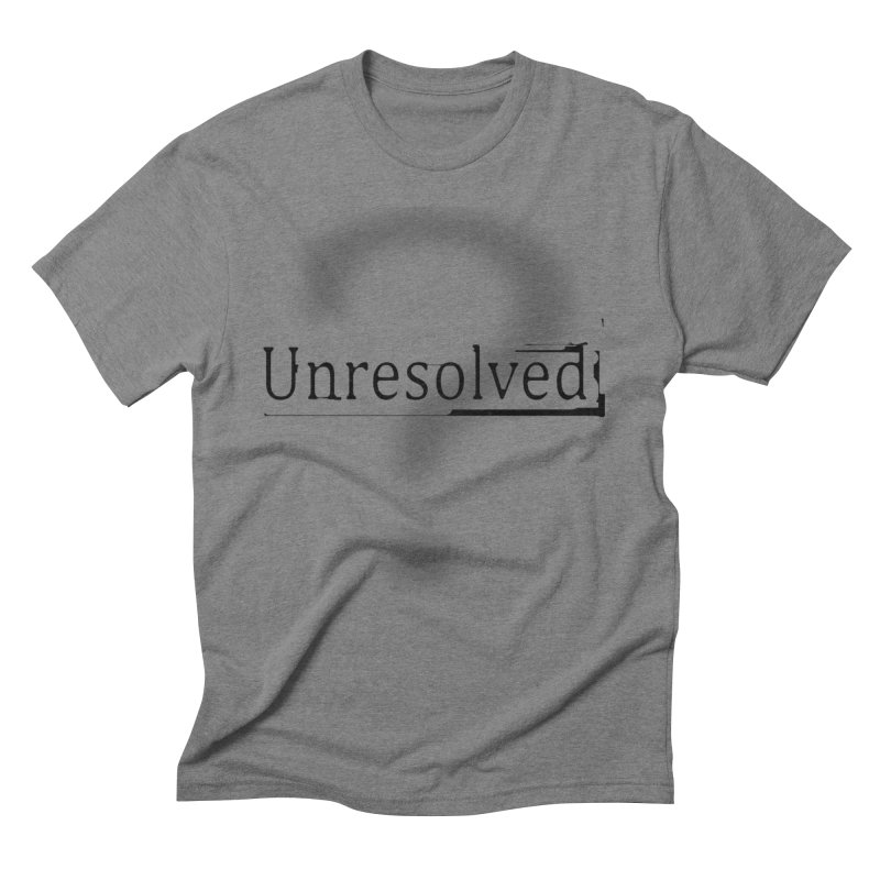Question Mark (Black) Men's Triblend T-Shirt by Unresolved Shop
