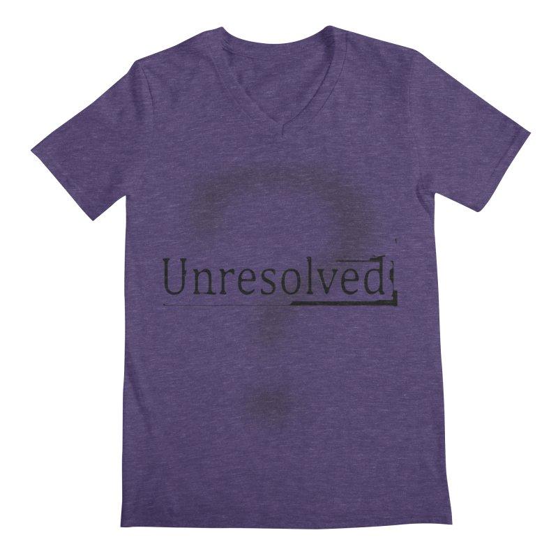 Question Mark (Black) Men's Regular V-Neck by Unresolved Shop