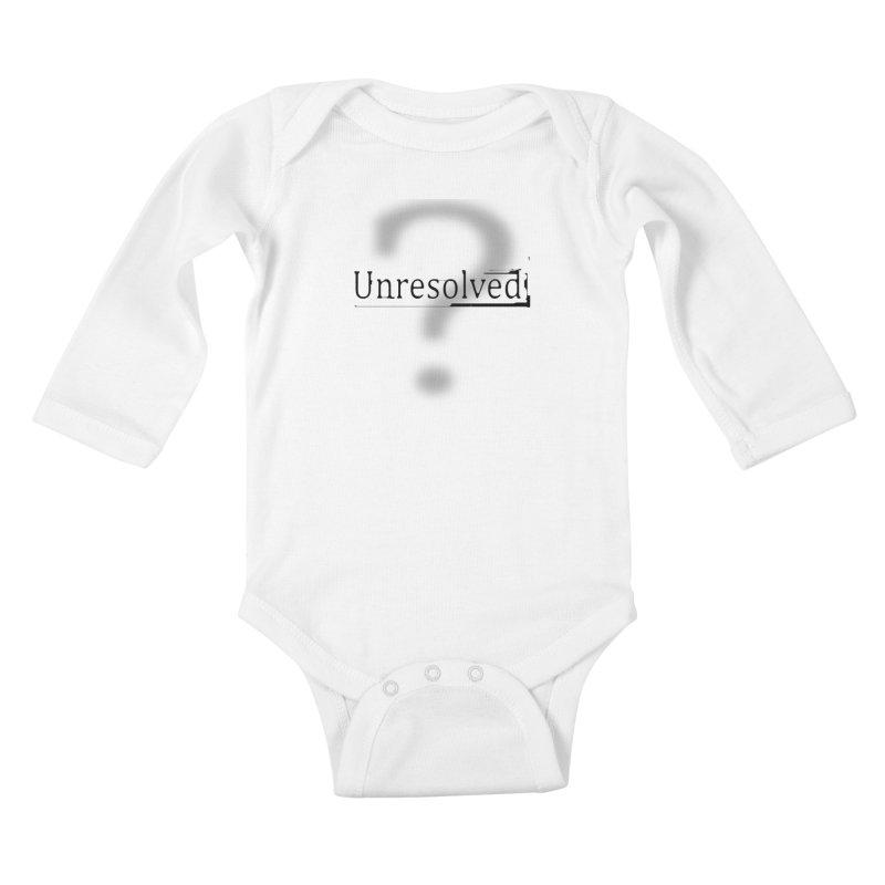 Question Mark (Black) Kids Baby Longsleeve Bodysuit by Unresolved Shop