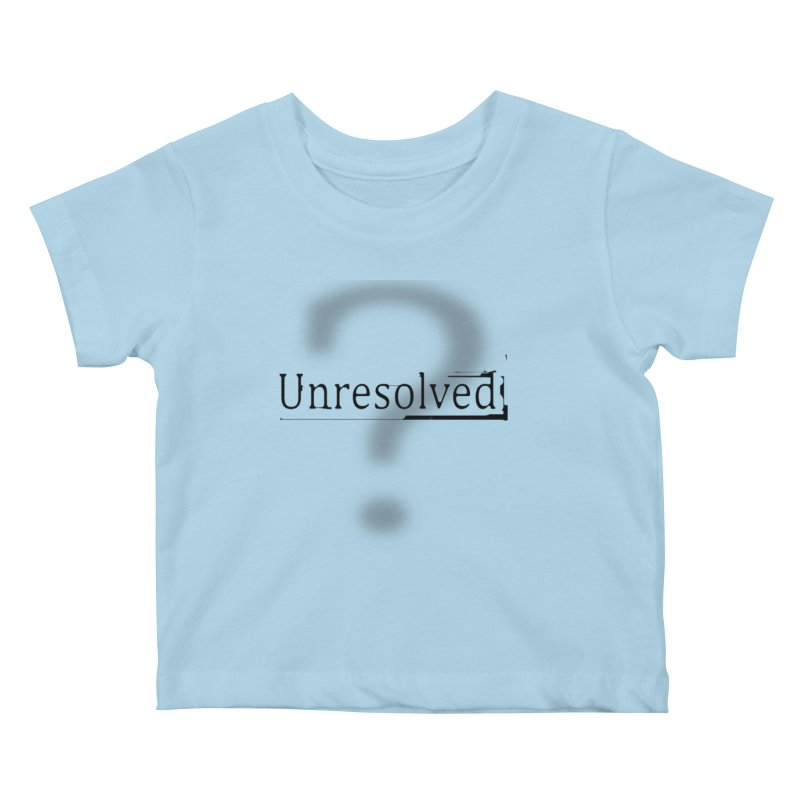 Question Mark (Black) Kids Baby T-Shirt by Unresolved Shop