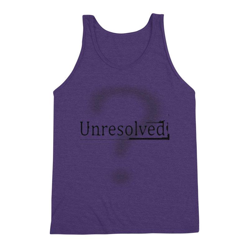 Question Mark (Black) Men's Triblend Tank by Unresolved Shop