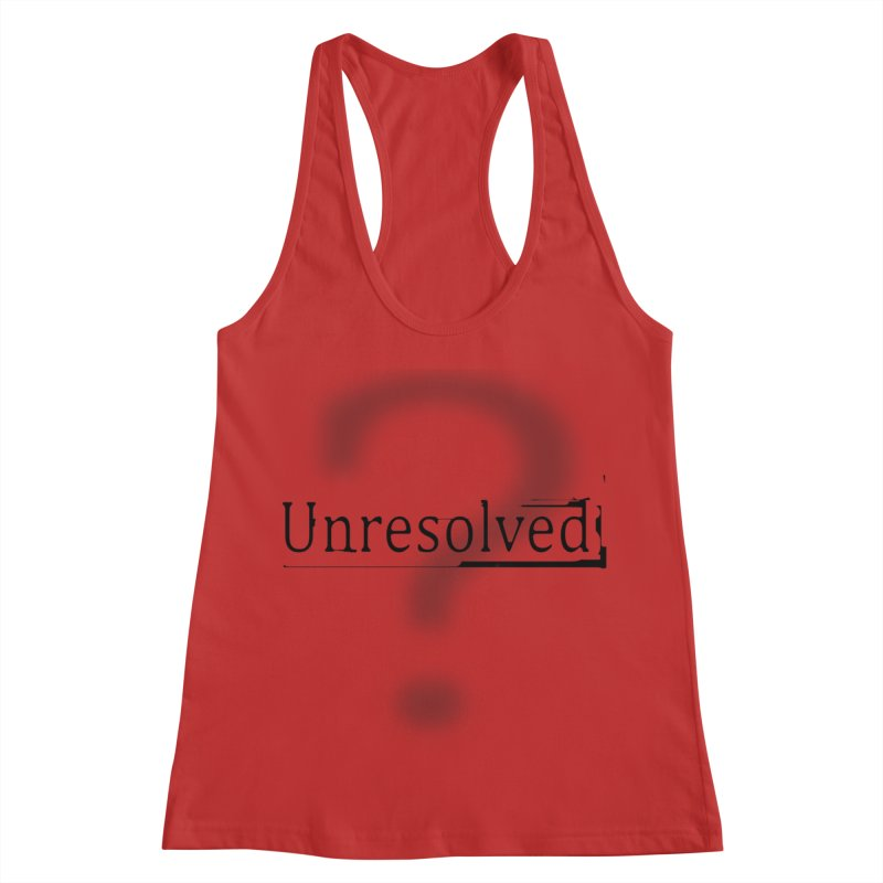 Question Mark (Black) Women's Racerback Tank by Unresolved Shop
