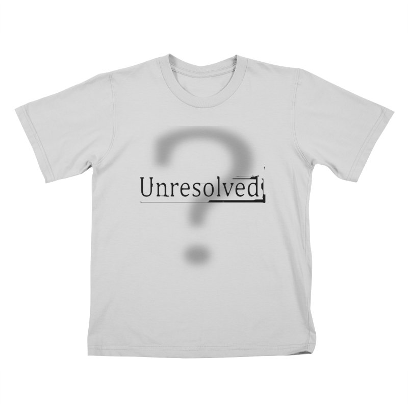 Question Mark (Black) Kids T-Shirt by Unresolved Shop