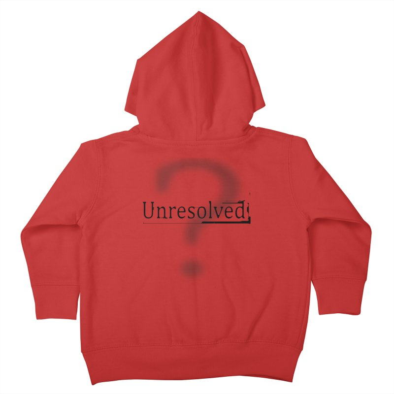 Question Mark (Black) Kids Toddler Zip-Up Hoody by Unresolved Shop