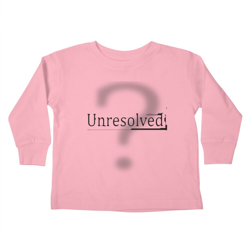 Question Mark (Black) Kids Toddler Longsleeve T-Shirt by Unresolved Shop