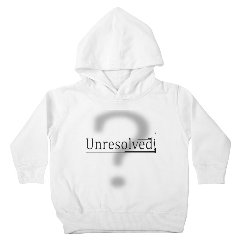 Question Mark (Black) Kids Toddler Pullover Hoody by Unresolved Shop