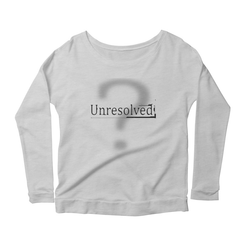 Question Mark (Black) Women's Scoop Neck Longsleeve T-Shirt by Unresolved Shop