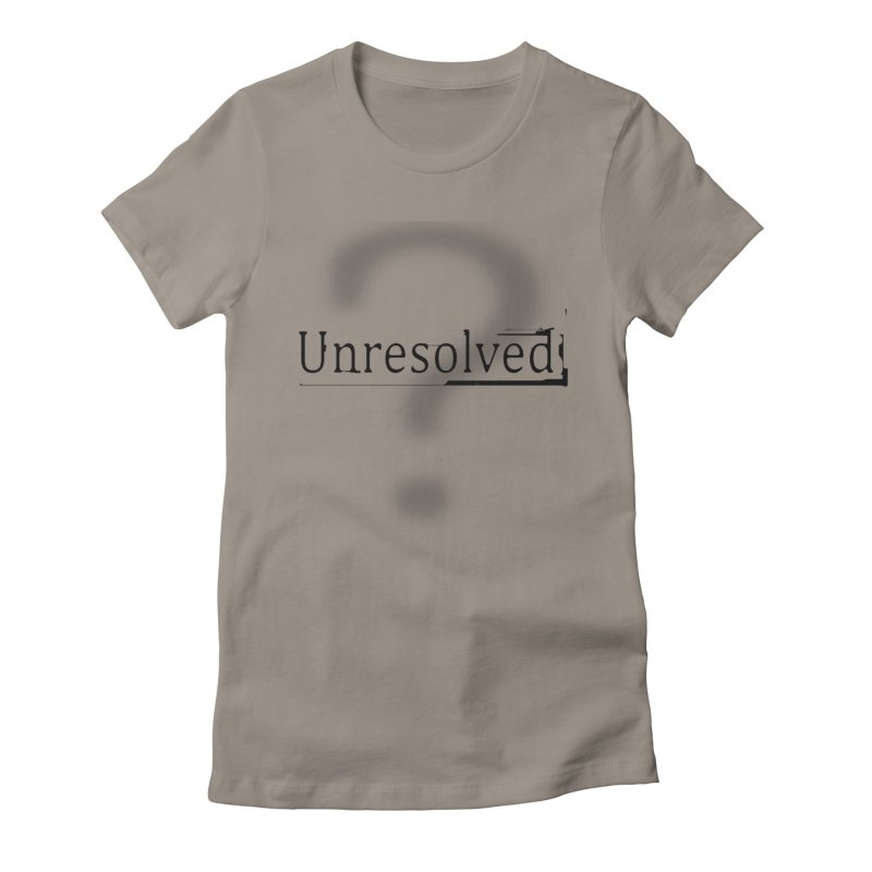 Question Mark (Black) Women's Fitted T-Shirt by Unresolved Shop