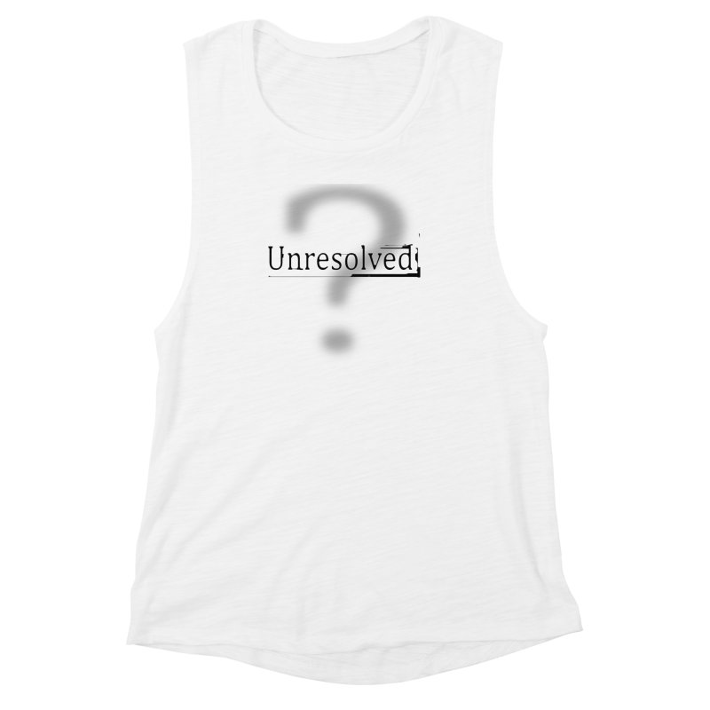 Question Mark (Black) Women's Muscle Tank by Unresolved Shop