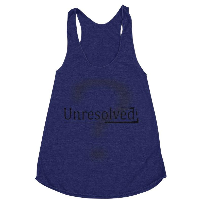 Question Mark (Black) Women's Racerback Triblend Tank by Unresolved Shop