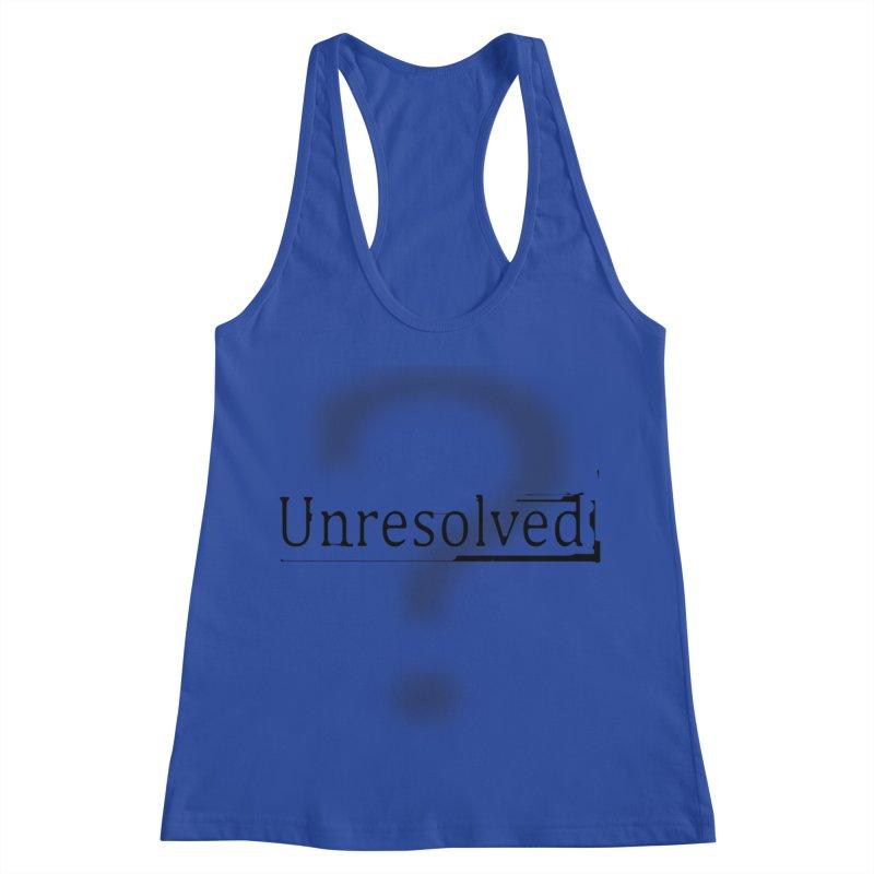 Question Mark (Black) Women's Racerback Tank by Unresolved Shop