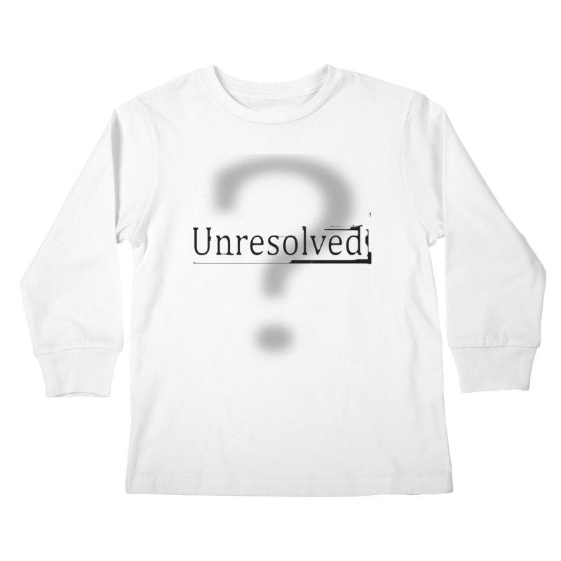 Question Mark (Black) Kids Longsleeve T-Shirt by Unresolved Shop