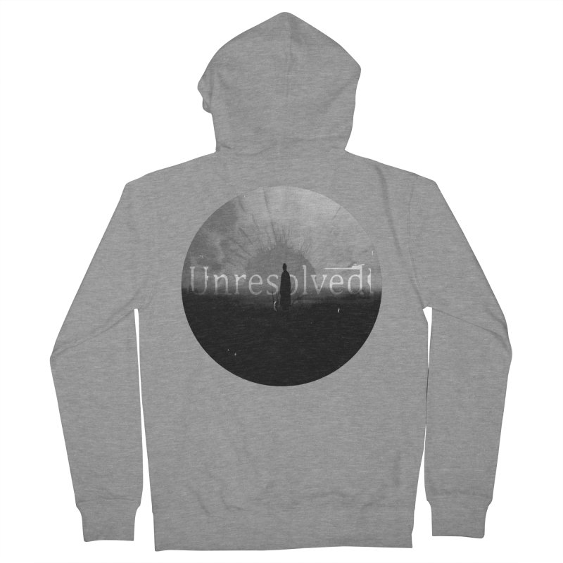 Logo (Rounded) Women's French Terry Zip-Up Hoody by Unresolved Shop