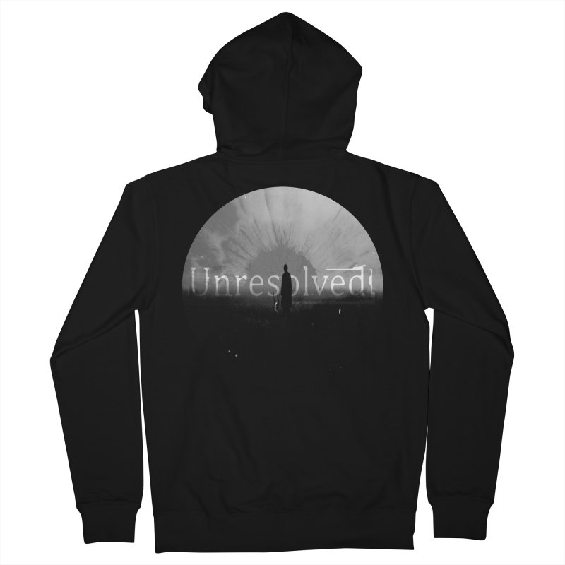 Logo (Rounded) Men's French Terry Zip-Up Hoody by Unresolved Shop