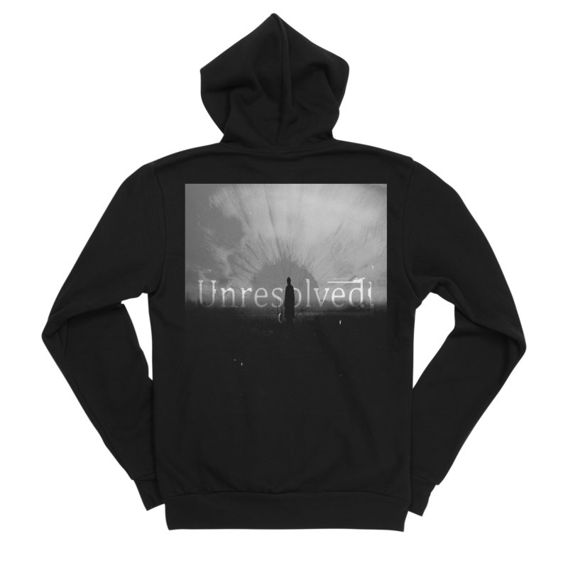 Logo (Squared) Men's Sponge Fleece Zip-Up Hoody by Unresolved Shop