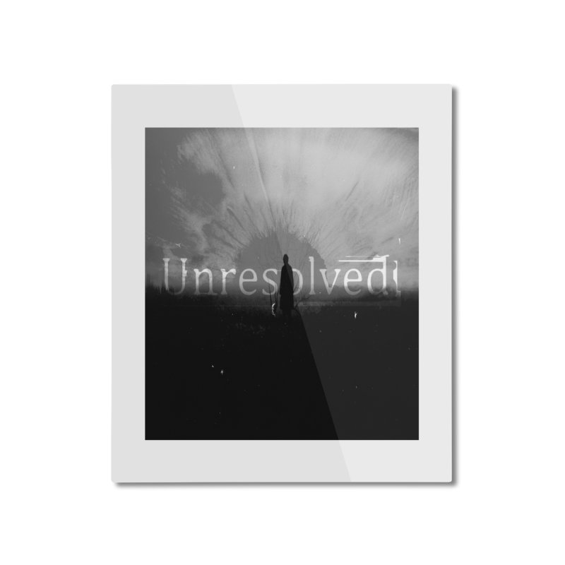Logo (Squared) Home Mounted Aluminum Print by Unresolved Shop