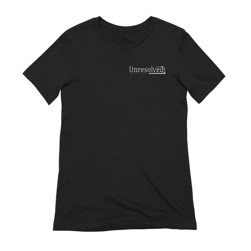 Unresolved (White Alternate) Women's Extra Soft T-Shirt by Unresolved Shop