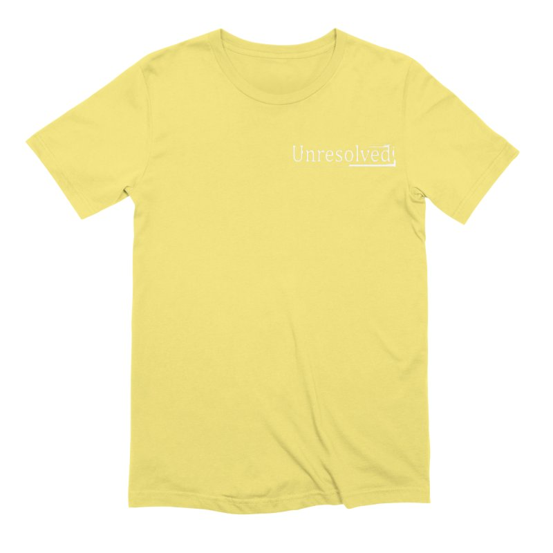 Unresolved (White Alternate) Men's Extra Soft T-Shirt by Unresolved Shop
