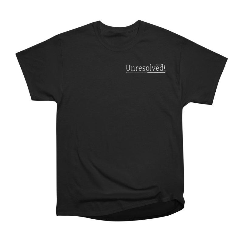 Unresolved (White Alternate) Women's Heavyweight Unisex T-Shirt by Unresolved Shop